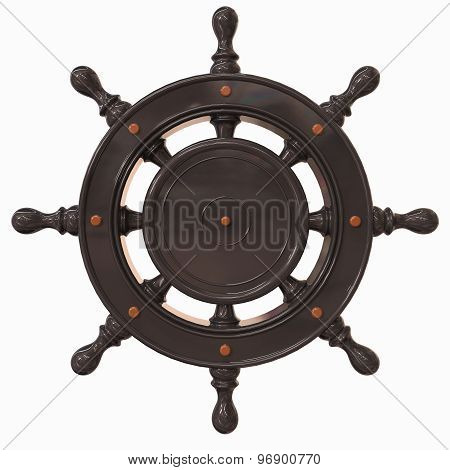 Nautical Helm 3D Render Design On White Background