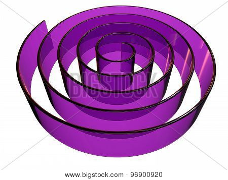 3D Rendered Abstract Maze Design Made In Glass