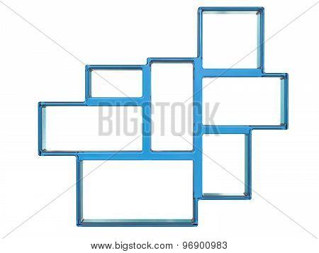 Bookshelf Design On White Background Made In Glass