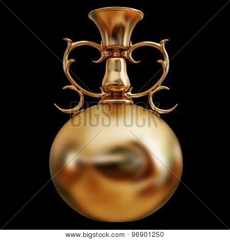 Illustration Of A Gold Vase Isolated