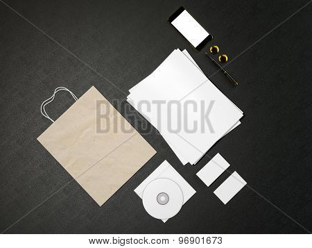 Set Of Identity Elements And Blank Magazine