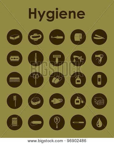 Set of hygiene simple icons
