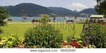 Lakeside Promenade Bad Wiessee, Lake Tegernsee, Bavaria