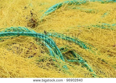Fishing nets closeup.