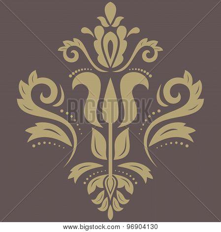Orient Abstract Vector Golden Pattern