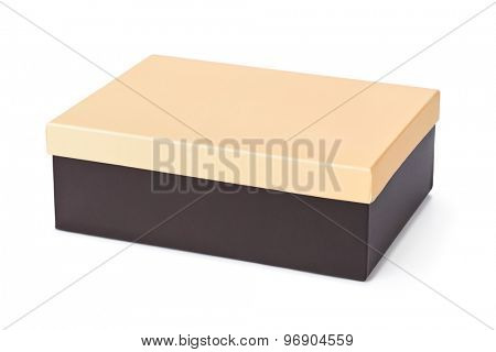Closed box isolated on white background