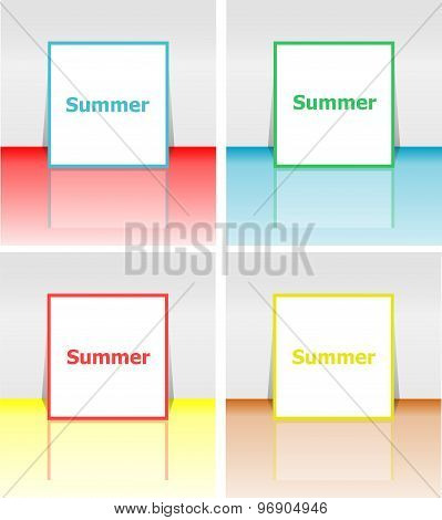 Hello Summer Poster. Summer Background. Effects Poster, Frame. Happy Holidays Card, Happy Vacation C