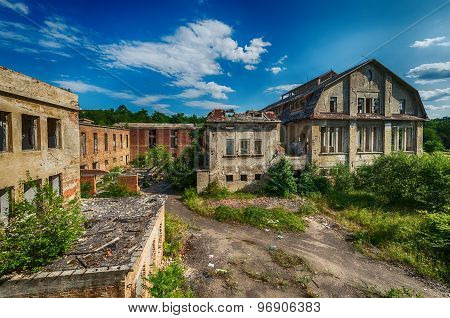 Beautiful old factory building fabulous background