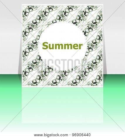 Summer Poster. Summer Background. Effects Poster, Frame. Happy Holidays Card, Enjoy Your Summer