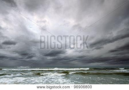 Dramatic Sky Over Baltic Sea