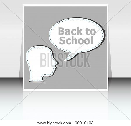 Education Thinking Concept. Children Think With Education Speech Bubbles