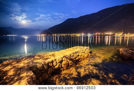 Moonlight And The Sea Landscape