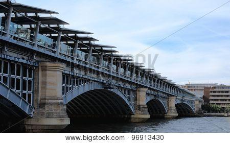 River Thames, Blackfriars Railway Bridge, London