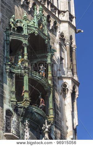 Glockenspiel At Marienplatz, Munich, 2015