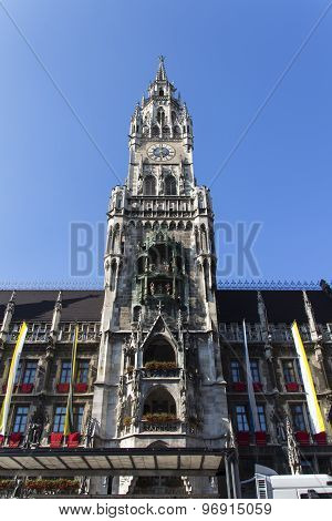 New City Hall Of Munich At Marienplatz, Germany, 2015