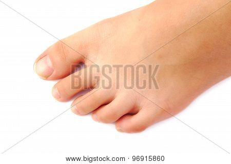 Female foot and toes