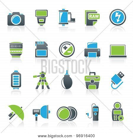 Camera equipment and photography icons