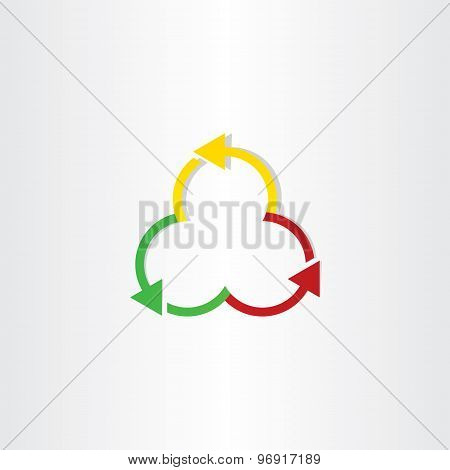 Red Green And Yellow Arrows Recycling Symbol