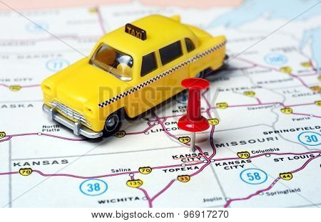 Kansan City Usa  Map Taxi