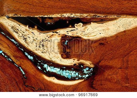 Burled Redwood Background.