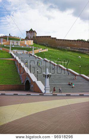 The Chkalov Staircase. Nizhny Novgorod. Russia