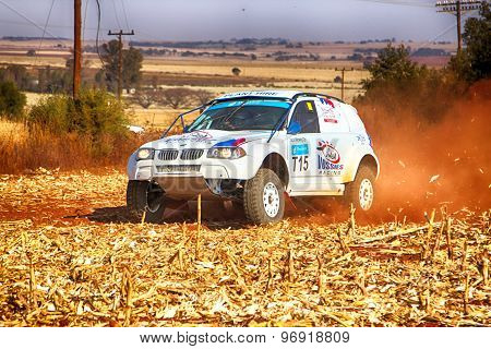 Hd - Bmw Truck Kicking Up Dust On Turn Ar Rally