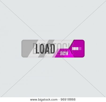 Load button, futuristic hi-tech UI design. Website, mobile applications icon, online design, business, gui or ui