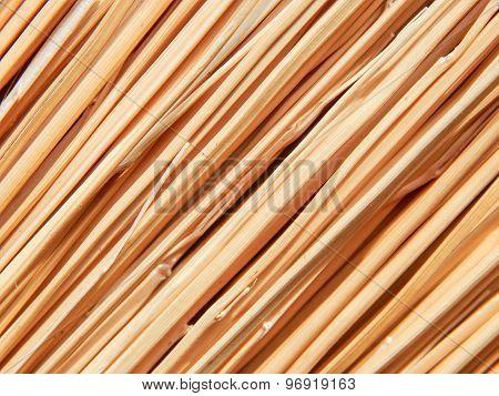 Straw brush bristles