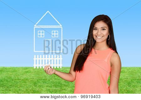 A woman who is buying her first home