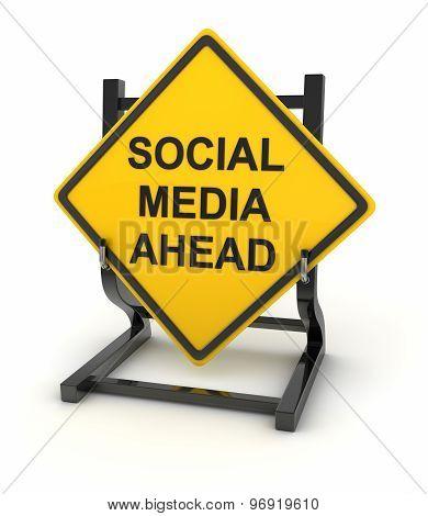 Road Sign - Social Media Ahead