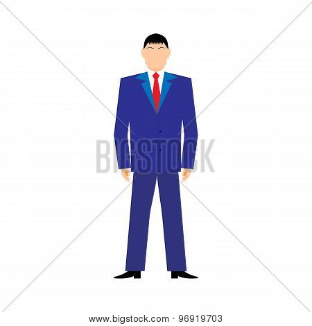 Flat Design Style Modern Vector Illustration Concept Of Successful Businessan On White Background