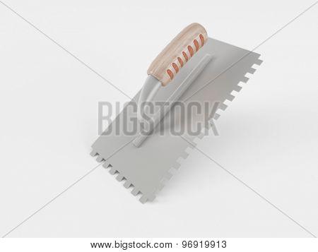 3d render of a builders trowel