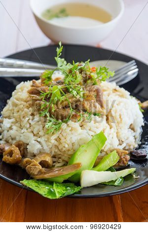 Rice Infront A Duck
