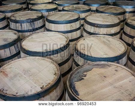 Large Group Of Barrels