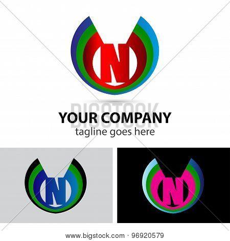 Letter N logo icon design template elementssymbol