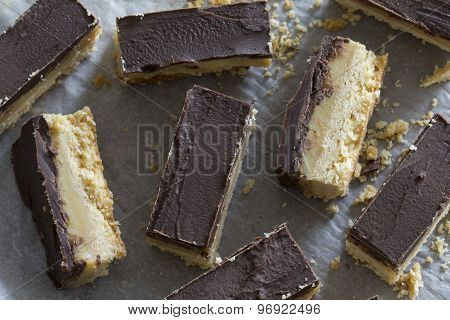 Rustic Chocolate Caramel Slice In Slices