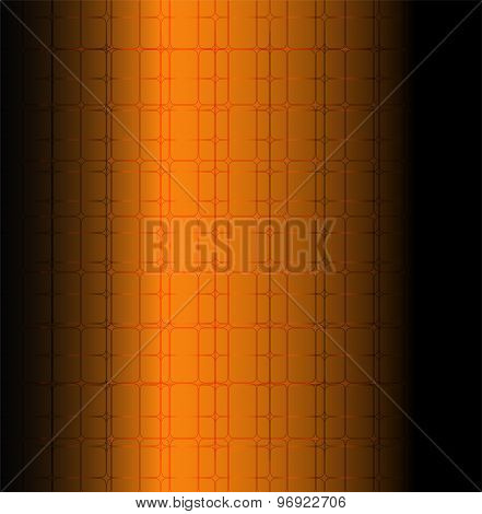 Orange technology grid background Vector