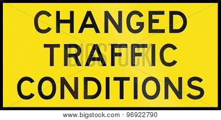 Changed Traffic Conditions In Australia