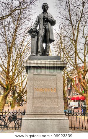 Thorbecke Statue In Amsterdam