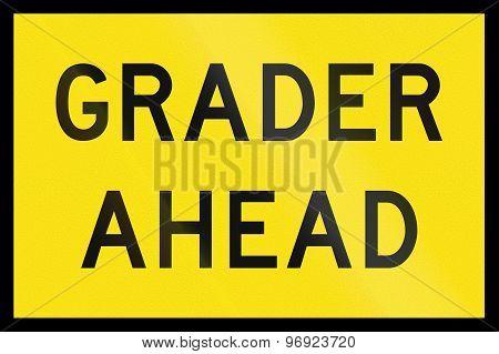 Grader Ahead In Australia