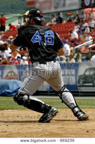 Baseball Catcher Throwing