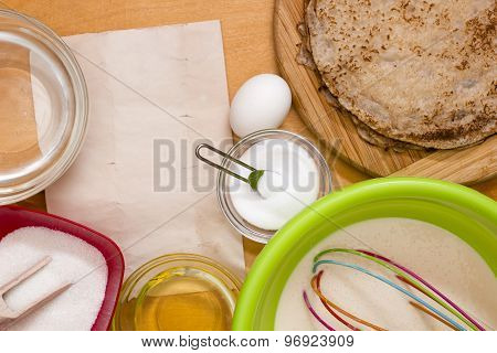 Dough Preparation For Pancakes