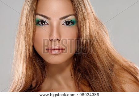 Beautiful sexy woman with long hair