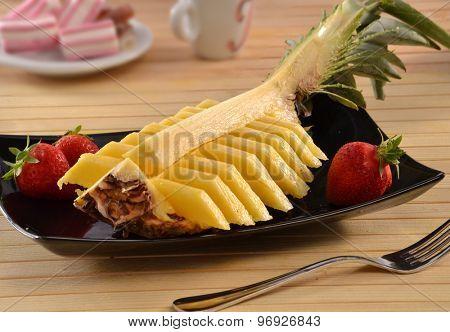 original sliced food design pineapple dish