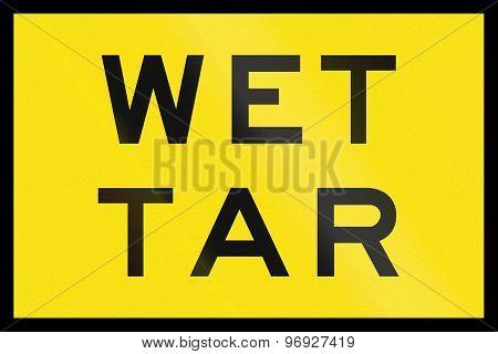 Wet Tar In Australia