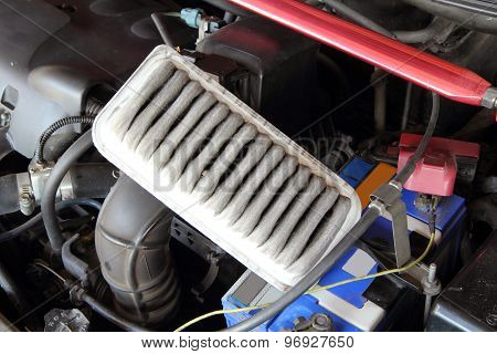 remove air filter of car