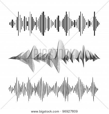 Vector eqalizer set black and white