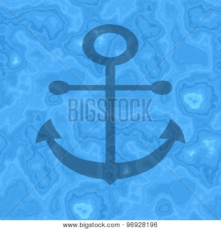 Seamless Anchor Generated Texture Background In Blue