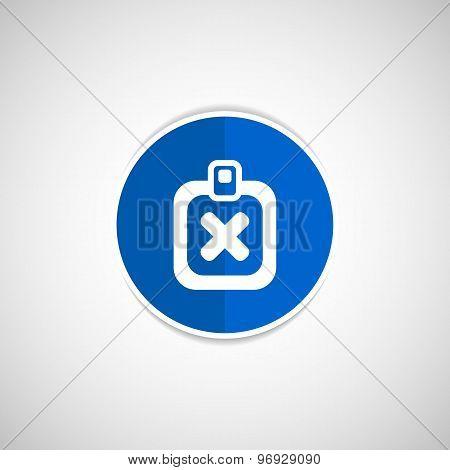 X Mark Icon flat survey reject checklist