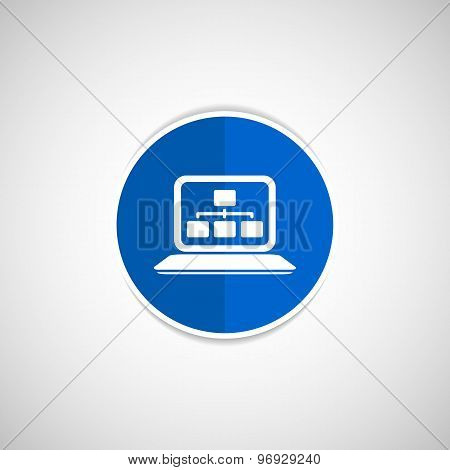 SEO analysis process vector concept with cool flat